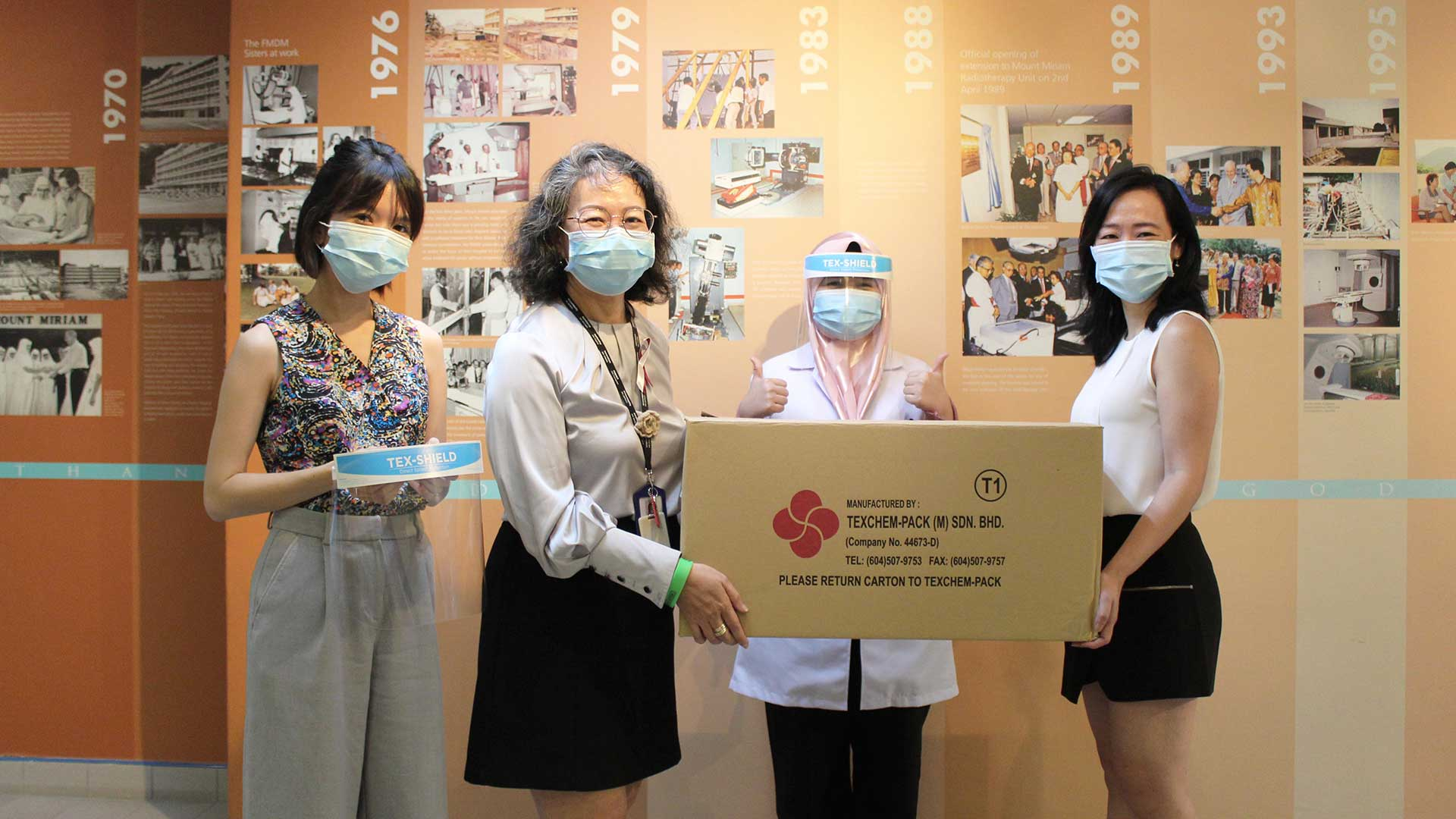 Contribution of Tex-Shield face shield to Mount Miriam Cancer Hospital